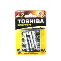 ถ่าน Toshiba ALKALINE Size AA แพ็ค 6 ก้อน